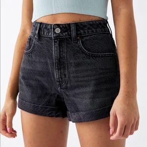 black pacsun denim mom shorts